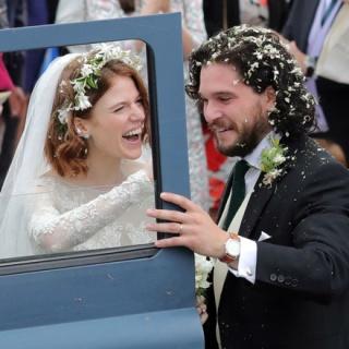 Актёры сериала «Игра престолов» Кит Харингтон и Роуз Лесли поженились