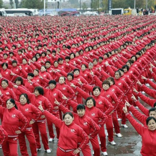 50 тысяч китайцев поучаствовали во флешмобе